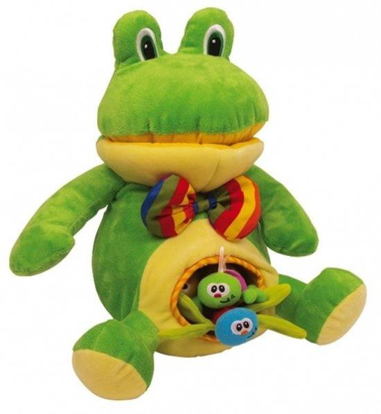 kikker met speelgoed