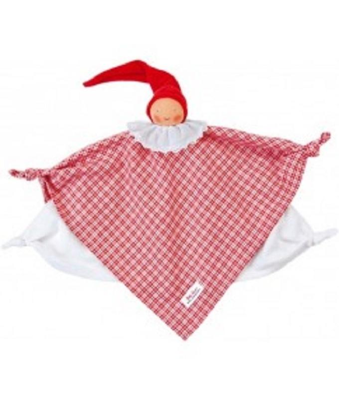 Baby doek, knuffel rood