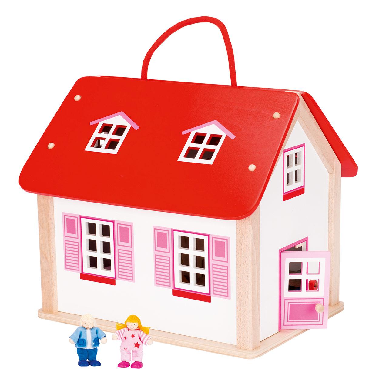 Houten poppenhuis voor peuter