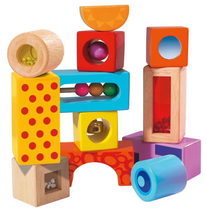 houten blokken met muziek