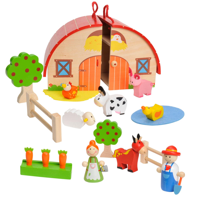 draagbare houten boerderij